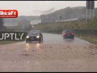 بارش شدید و سیل در آلمان +فیلم