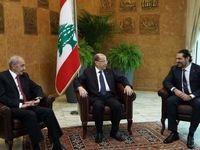 نخستین نشست روسای سهگانه لبنان پس از استعفای حریری