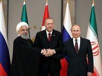 روایت توییتری ظریف از نشست سران ایران، روسیه و ترکیه