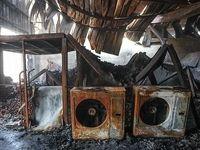 بازار خرمشهر پس از مهار آتش +تصاویر