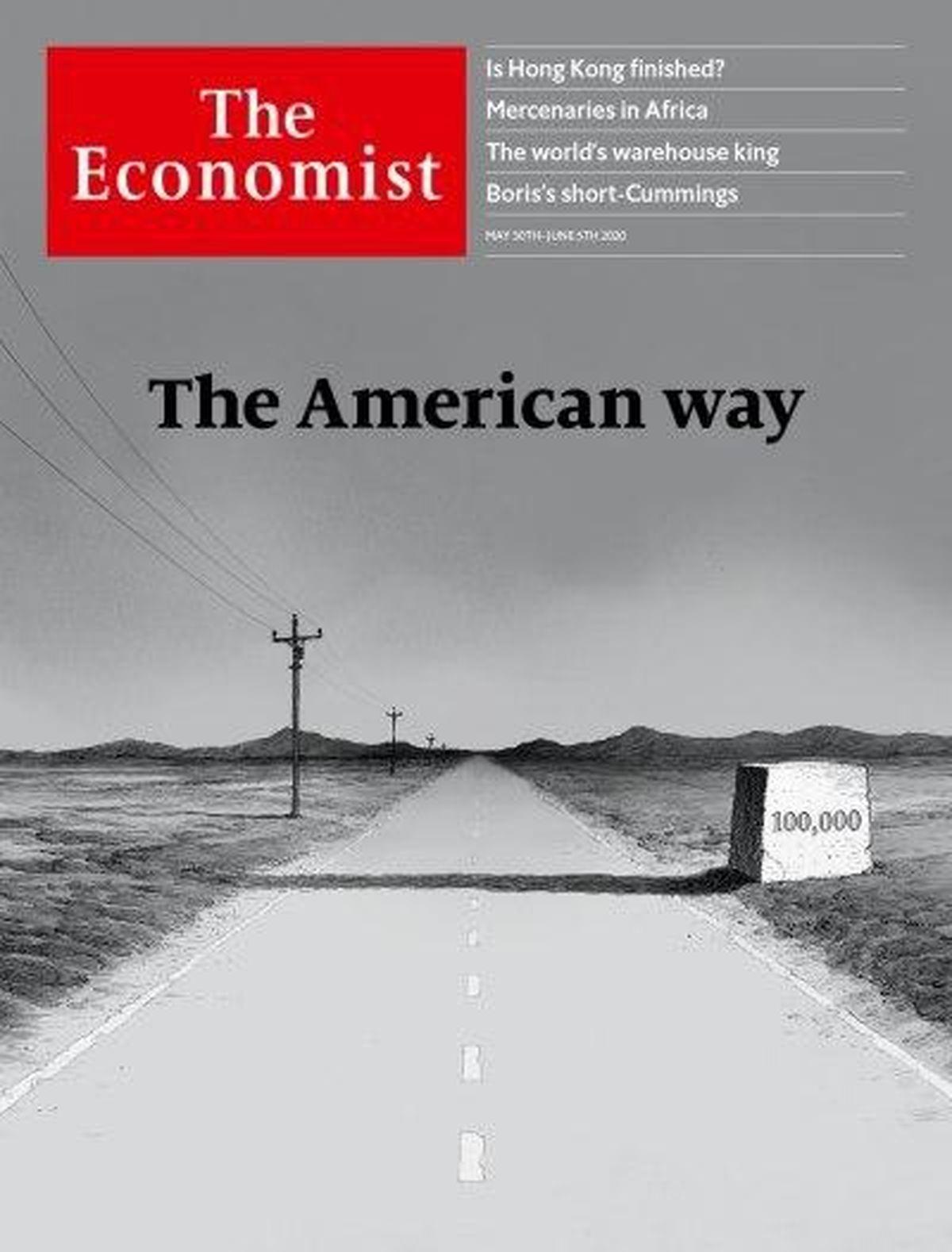 نحوه مقابله آمریکا با کرونا روی جلد اکونومیست