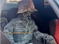 دستگیری رانندهای که با یک اسکلت همسفر بود +عکس
