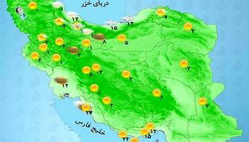 پیش بینی بارش در استانهای ساحلی دریای خزر