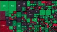 نقشه بورس امروز بر اساس ارزش معاملات/ افت نمادهای بزرگ شاخص کل را منفی کرد