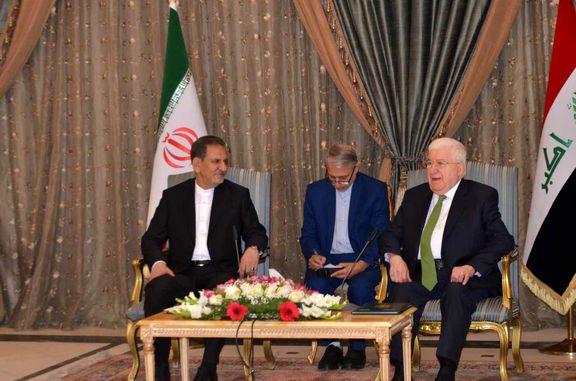 دیدار جهانگیری با رییس جمهور عراق در قصر سلام