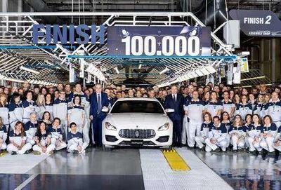 ۱۰۰ هزارمین خودرو مازراتی +عکس