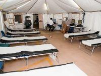 بیمارستان موقتی برای بیماران کرونا در برشا ایتالیا +فیلم