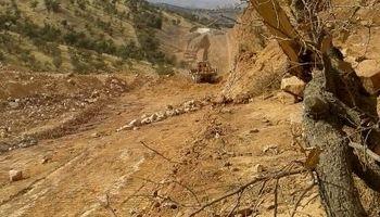 جنایت پیمانکار خطوط لوله مخابرات شرکت نفت در طبیعت لرستان +عکس