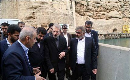 بازدید دکتر لاریجانی از سد دز