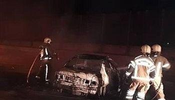 سمند، ناگهان آتش گرفت و جزغاله شد! +تصاویر