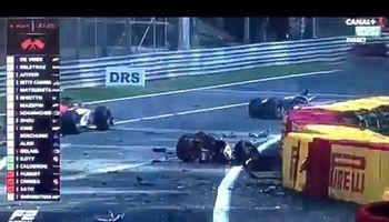 لحظه تصادف و مرگ راننده 22 ساله فرانسوی مسابقات فرمول 2 +فیلم