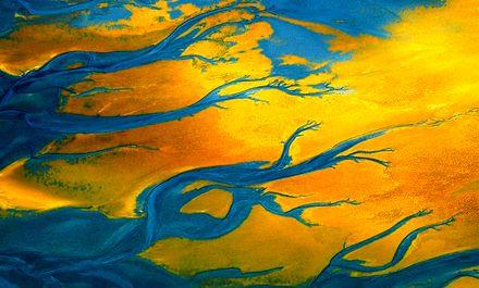نقاشی پروردگار را از آسمان نامیبیا ببینید