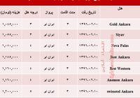 هزینه سفر به آنکارا در اردیبهشت ۹۶ +جدول
