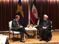 رایزنی روحانی با نخست وزیر سوئد و رئیس جمهور سوییس