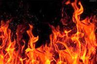 آتش سوزی شناور در اروندکنار