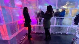 ساخت قصر یخی در وسط واشنگتن +فیلم
