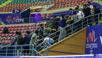 درگیری در پایان دیدار تیمهای والیبال ایران و استرالیا +عکس