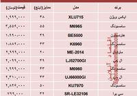 قیمت پرفروشترین تلویزیونها در بازار؟ +جدول
