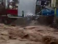 طغیان رودخانه در فشم +فیلم