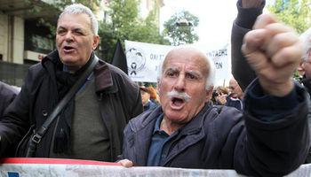 اعتراض بازنشستگان یونانی به وضعیت بد اقتصادی