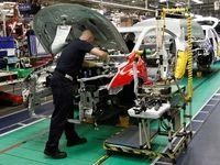 تولید خودرو در انگلیس کاهش یافت