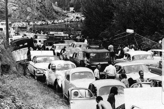 ترافیک جاده چالوس در سال۱۳۴۰ +عکس