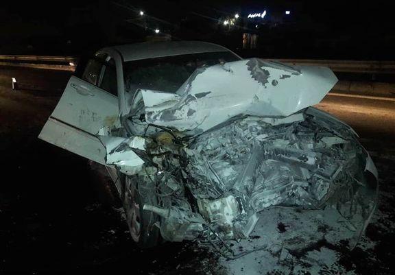 تصادف مرگبار تویوتا در جاده کرج +عکس