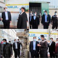 بازدید مدیرعامل شستا از شرکت حریر خوزستان