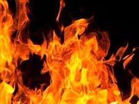 آتش سوزی در ساختمان دانشگاه آزاد رشت