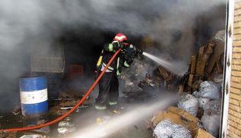 ۹مجروح و یک فوتی در یک حادثه آتشسوزی