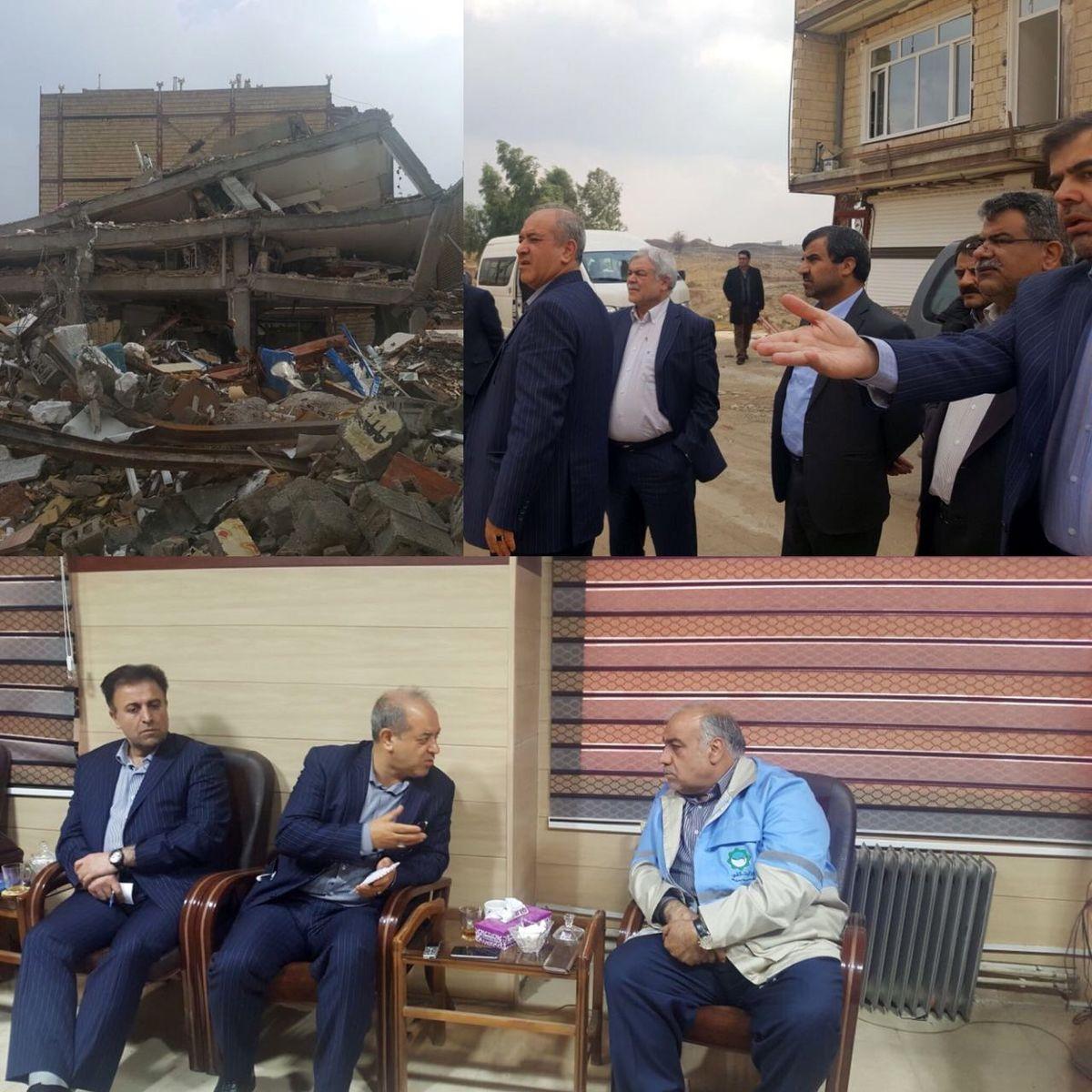بازدید مدیرعامل بانک شهر از مناطق زلزلهزده غرب کشور