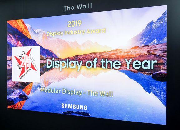 نمایشگر «وال» سامسونگ برنده جایزه نمایشگر سال شد