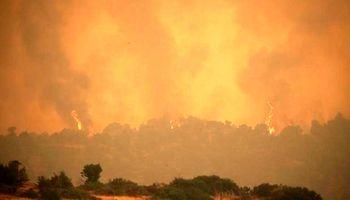 آتشسوزی هولناک در شمال آتن +تصاویر