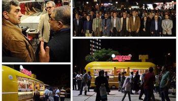 بهره برداری از فود تراک شهروند در میدانگاه شهدای هفتم تیر