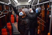 واکنش اتوبوسرانی به انتشار عکسهای اتوبوسهای کثیف تهران همزمان با انتشار ویروس کرونا