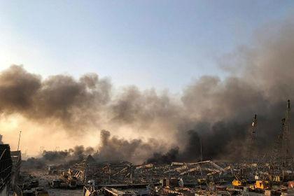 اولین تصاویر از انفجار هولناک بیروت