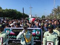 تشییع شهدای حادثه تروریستی چابهار +تصاویر