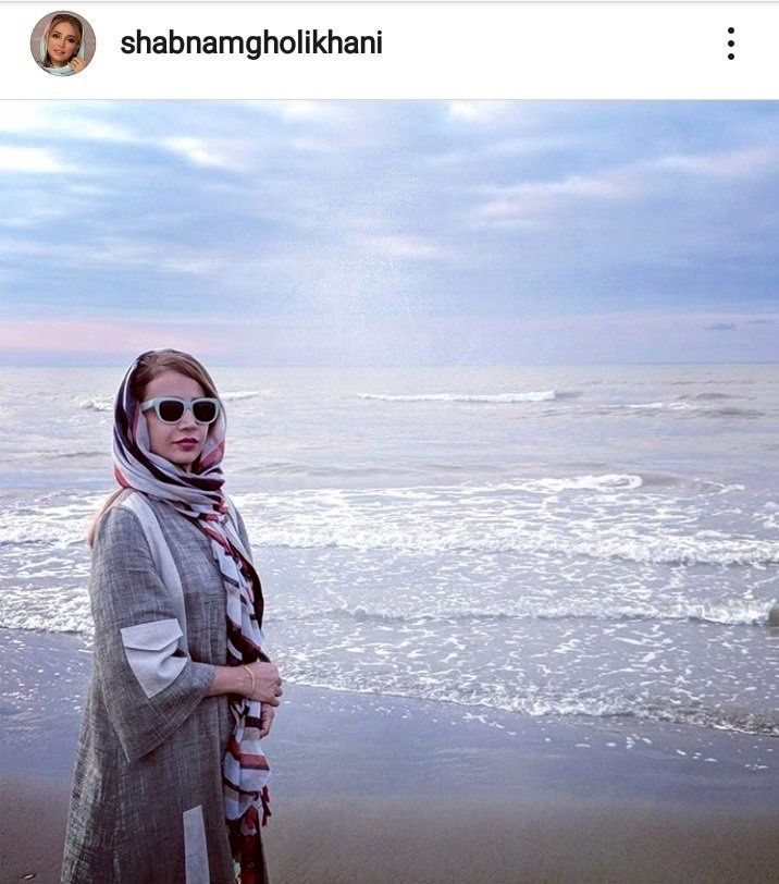(عکس) تصویری از خانم بازیگر کنار دریا