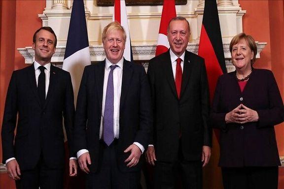 محورهای رایزنی چهارجانبه اردوغان، ماکرون، جانسون و مرکل