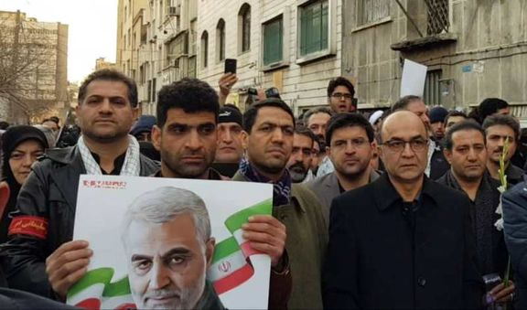 حضور مدیر عامل بانک تجارت در مراسم تشییع سردار سلیمانی