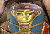 کشف مومیایی مصری همراه با ماسک طلایی +تصاویر