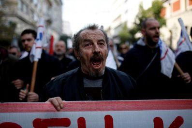 درگیری مردم و پلیس یونان در جریان تظاهرات