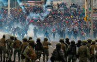 تضاهرات مردم اکوادور در اعتراض به دولت +تصاویر