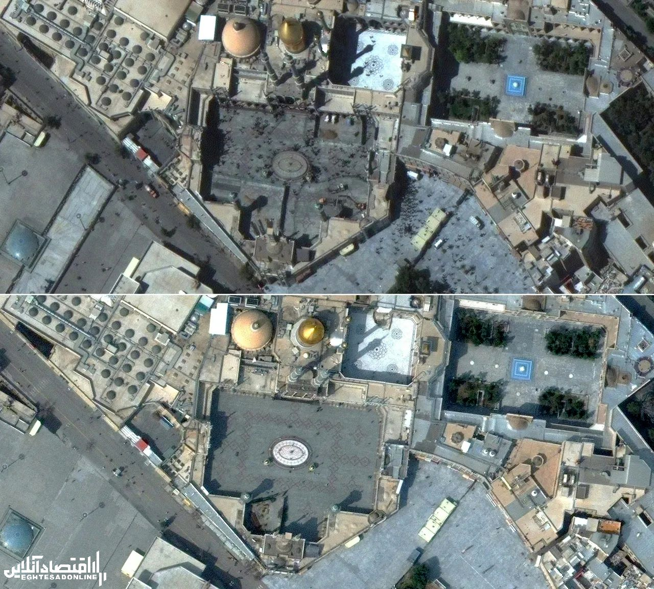Satellite images show the impact of coronavirus