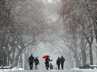توفان و برف به شرق اروپا رسید +تصاویر