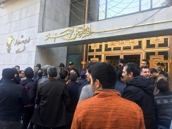 تجمع اعتراضی پیمانکاران شهرداری تهران +عکس