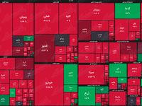 نقشه بورس امروز بر اساس ارزش معاملات/ این بازار با زلزله هم تغییر روند نداد
