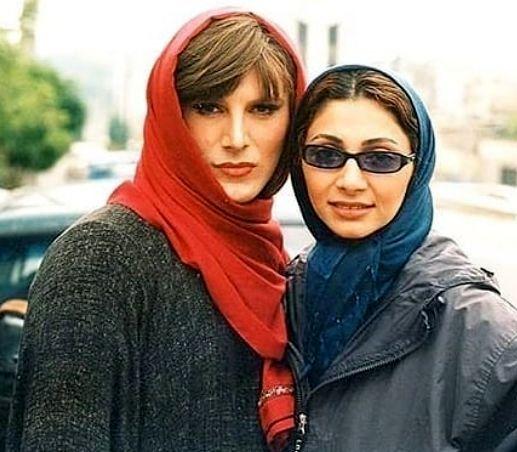 امین حیایی با ظاهر زنانه کنار همسرش ۱۸سال پیش +عکس