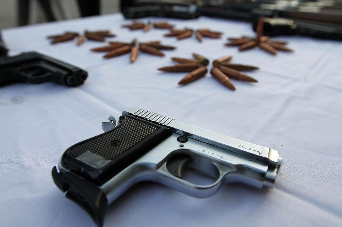 کشف 157قبضه سلاح غیر مجاز