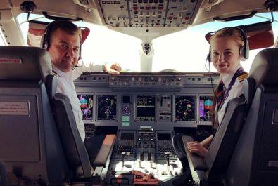 جوانترین خلبان شرکت ایرفلوت ماریا فدوروا